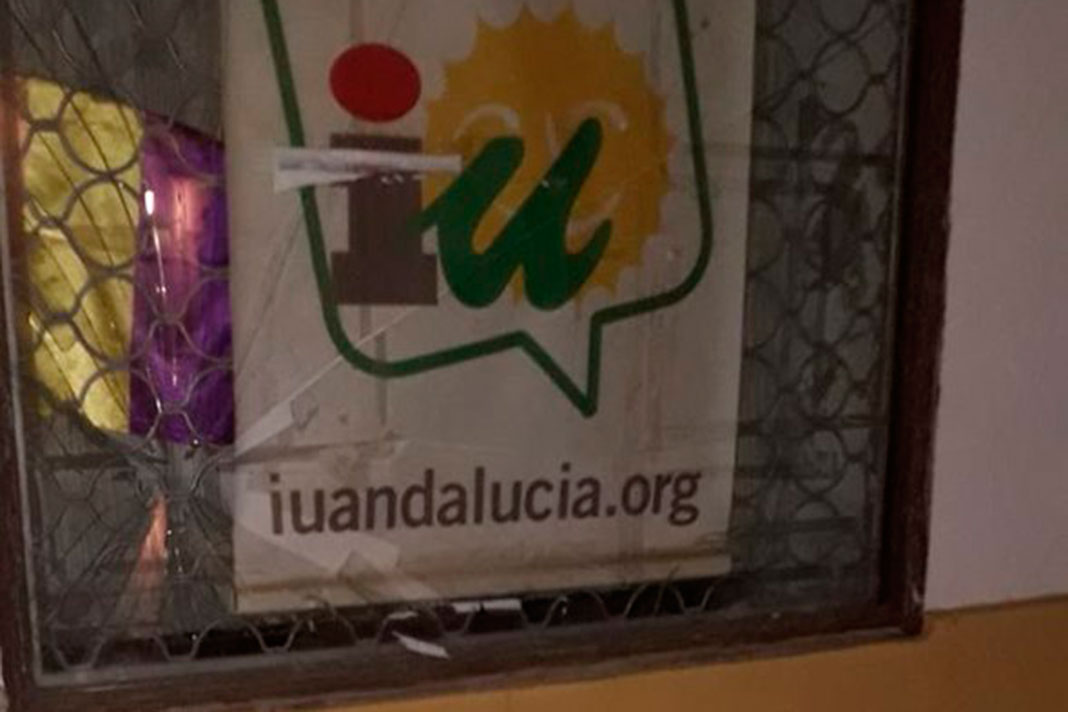 """IU denuncia un """"ataque"""" a su sede en Hinojosa del Duque"""