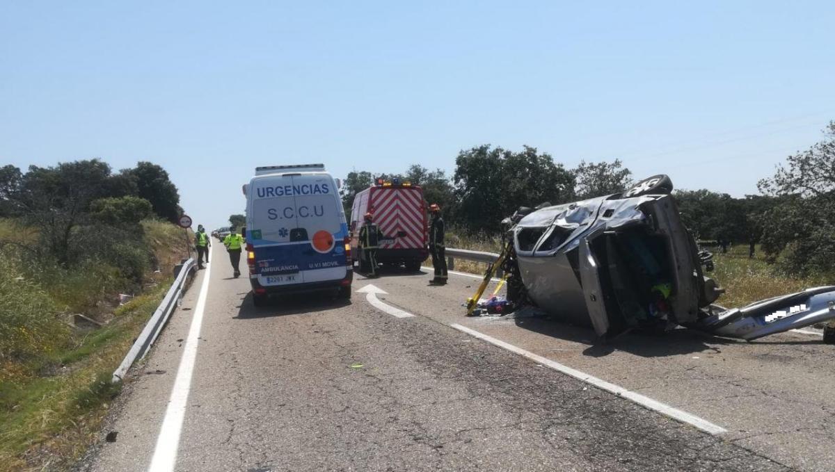 Ultima hora :el estado de los heridos en el accidente de tráfico ocurrido en la carretera que une Cardeña y Villanueva de Córdoba: