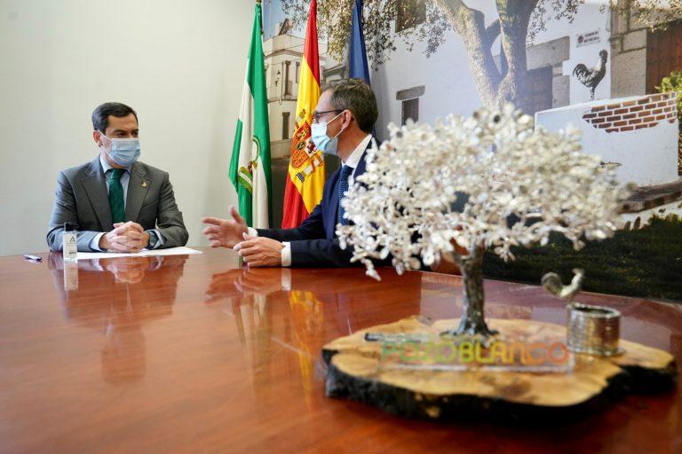 """El alcalde agradece al presidente de la Junta su """"compromiso constante"""" con Pozoblanco y Los Pedroches"""