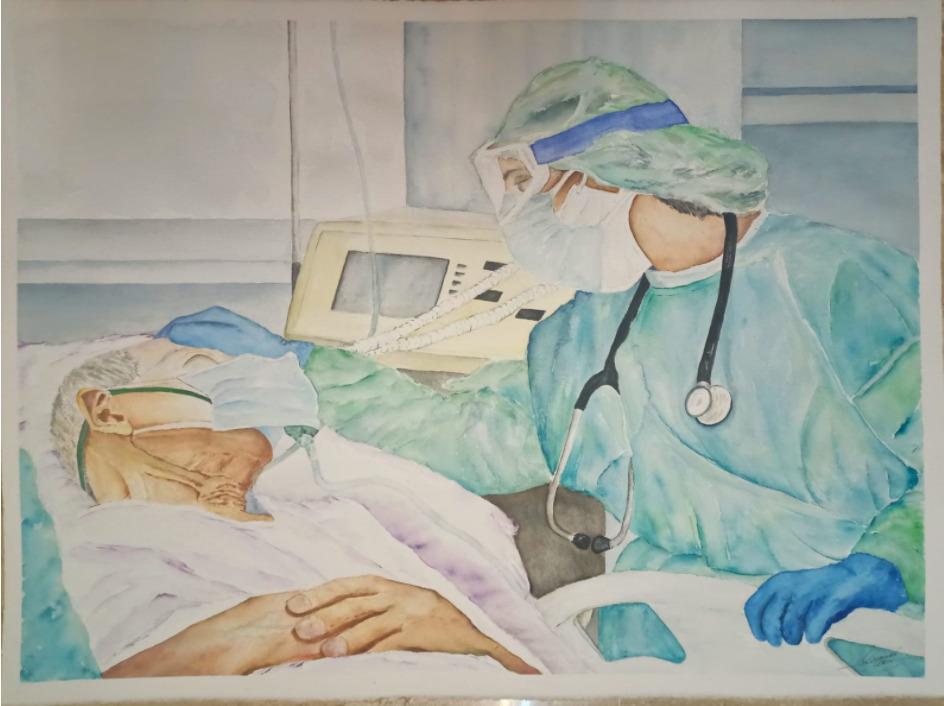 """El Hospital Valle de los Pedroches presenta la exposición """"Sentimientos"""", dedicada a las emociones de los profesionales sanitarios en la pandemia del Covid-19"""